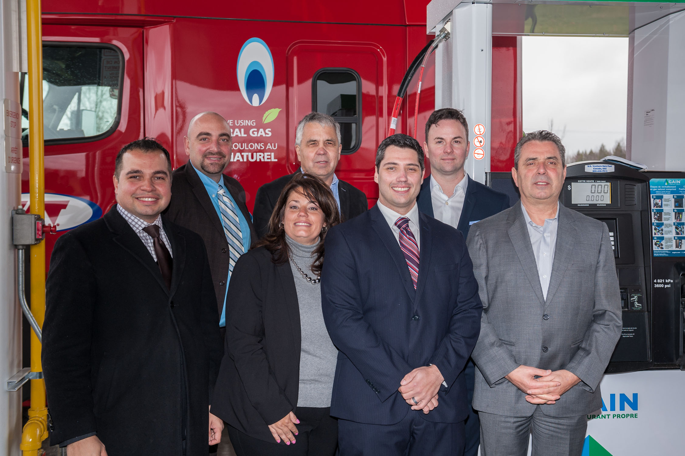 GAIN Clean Fuel celebrates opening of first CNG public station in Quebec